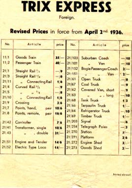 cat1936 price list